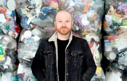 For a year Mr Webb stored all the plastic waste he threw in the bin, collecting up a total of 4,490 individual pieces of plastic
