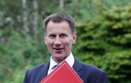 "In comments ahead of a speech in London, Jeremy Hunt said Britain would form ""an invisible chain linking the world's democracies"""