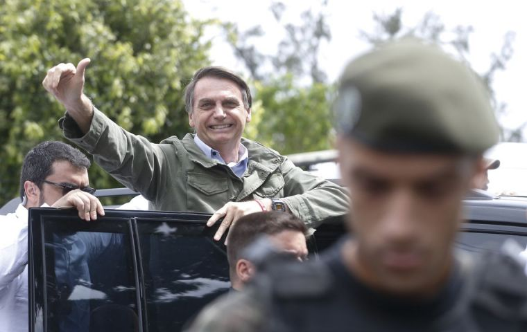 "The cabinet to be announced next Monday, will have ""four or five generals"", according to the head of Mr Bolsonaro's Social Liberal Party, Gustavo Bebianno."