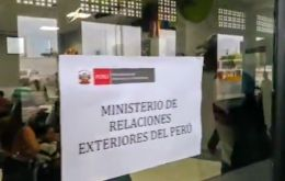 Peruvian government offices in Tumbes (photo) are crammed with Venezuelan refugees seeking residency cards.