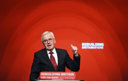 "John McDonnell said Labour would vote in favor of a Brexit deal that ""protects jobs and the economy"" but admitted it was ""not the way it is at the moment"""