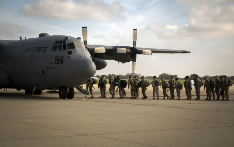 Washington wants to send 400 civilian and military personnel as well as eight aircraft for a week, from November 26 to December 3