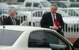 Bribe money was used to buy real estate on behalf of Hector Daniel Muñoz (left), a longtime personal secretary of Nestor Kirchner and Cristina Fernandez