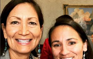 Democrats Sharice Davids of Kansas and Debra Haaland from New Mexico will become the first Native American women elected to Congress.