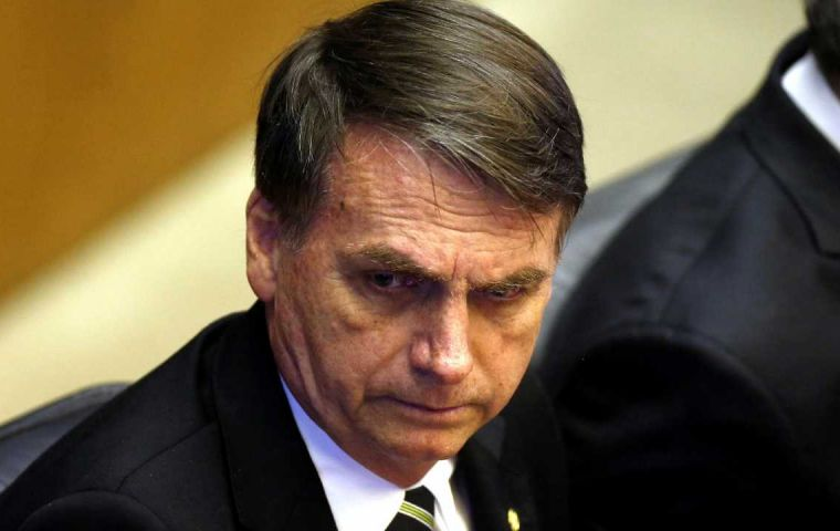 """We cannot end the year without taking a step forward on pension reform,"" Bolsonaro told reporters on his first visit to Brasilia since he was elected"
