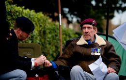 "Ex-paratrooper Gus Hales, 62, launched his protest over the ""disgraceful"" lack of mental health care for former soldiers"