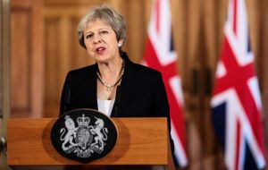 "Mrs. May assured ministers any agreement will be dependent on an ""acceptable"" framework for future relations in areas like trade and security"