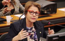 Tereza Cristina, 64, a lawmaker from the farming state of Mato Grosso do Sul, is an agronomist by training and a staunch advocate of Brazil's agribusiness sector