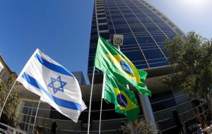 "In response to a question about his plans to move Brazil's embassy in Israel from Tel Aviv to Jerusalem, Bolsonaro said that it was ""not a point of honor""."