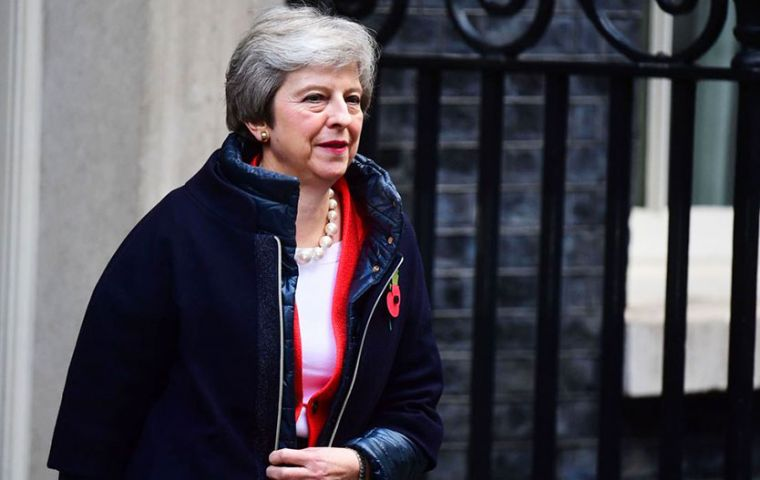 Theresa May begins in Belgium's St Symphorien Military Cemetery in Mons, where she will visit the graves of John Parr and George Ellison.