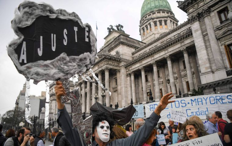 Social movements called protests in the vicinity of the Congress