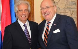 """Nothing affects tourism more than crime,"" said Giuliani, who met with Tabaré in Montevideo."
