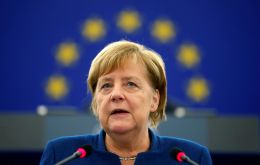 "German Chancellor Angela Merkel said there was ""no question"" of reopening talks as a document was ""on the table"""