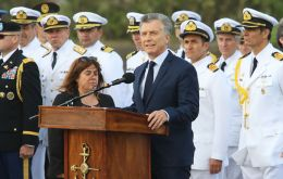 "Macri praised the ""courage and professionalism of each of the 44 crew"" members."