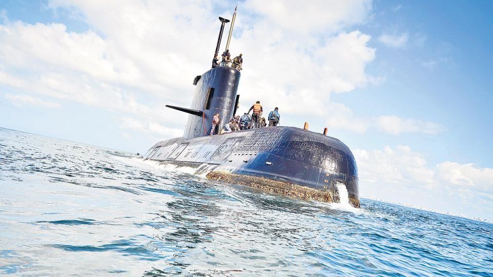 En las primeras horas del sábado por la mañana se encuentran el ARA San Juan.  Ella descansa a 800 metros de profundidad en el Atlántico Sur.