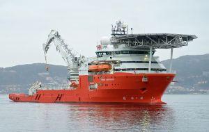 Después de dirigirse al sitio con su embarcación, Seabed Constructor, para investigar, la compañía dice que identificó positivamente el objeto como ARA San Juan.
