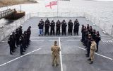 Crew of HMS Clyde showed their respects in an act of remembrance. (Pic BFSAI/RN)