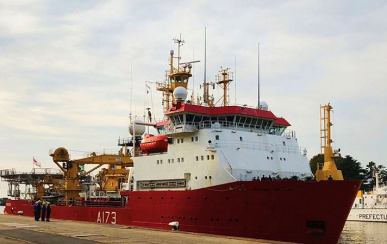 HMS Protector docked in the port of Buenos Aires. The Ice Patrol was among the first to join the search for the lost ARA San Juan a year ago