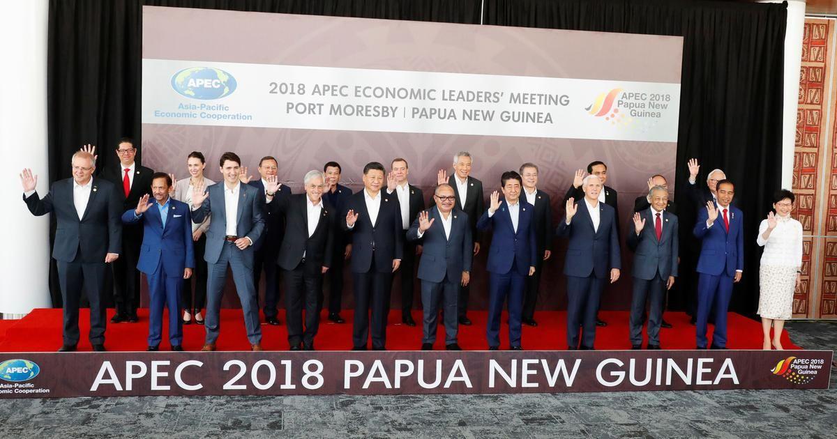 La primera vez que los líderes no acordaron una declaración en 29 años de las cumbres de la Cuenca del Pacífico que involucran a los países que representan el 60% de la economía mundial.