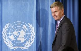 A draft internal U.N. audit found Solheim had spent almost US$ 500,000 on air travel and hotels in 22 months, and was away from Nairobi base 80% of the time