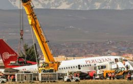 All security protocols were activated as soon as the Boeing 737-500 touched down on its fuselage.