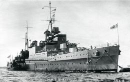 HMS Sheffield played a vital role in Scandinavia during WW2 and assisted with the evacuation of Andalsnes in 1940