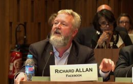 Richard Allan, Facebook's vice-president of policy solutions, appeared in Mr Zuckerberg's place