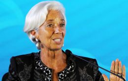 Christine Lagarde, Managing Director and Chairwoman of the International Monetary Fund. Lagarde has held the position since July 2011