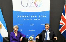 Macri and May talked frankly in a positive atmosphere perhaps with a post-Brexit scenario in mind.