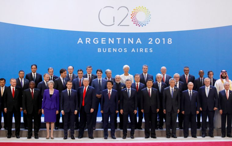 The family picture of the G20 leaders' two-day meeting in Buenos Aires