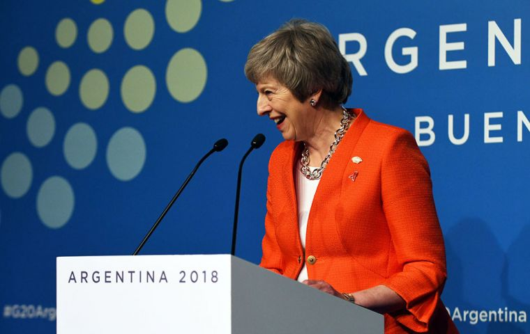 "Mrs May underlined ""The UK has always been clear about the importance of the G20."""
