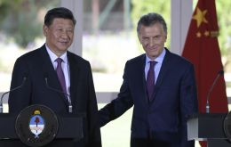 """China's development benefits Argentina, our region and the world,"" Macri said during a ceremony at the presidential residence"