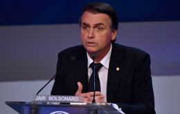 """I want to defend the environment, but not in a Shiite way, as is taking place now,"" Bolsonaro said"