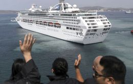 P&O cruise ship Azura called at Marseille and inspectors boarded, sampled her tanks and determined that she was using fuel with a sulfur content of 1.68 percent