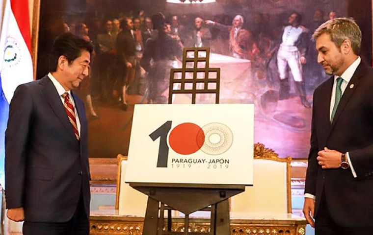 Shinzo Abe became the first serving Japanese PM ever to visit Paraguay.