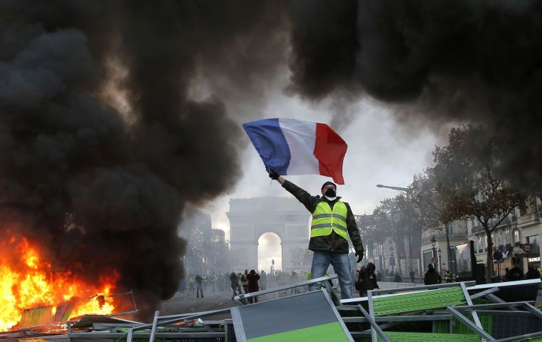 "The ""yellow vests"" have been protesting about a controversial fuel tax since mid-November. But the protests now reflect more widespread anger at the government"