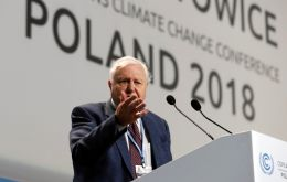 "Sir David called on global leaders and decision-makers, gathered in Katowice, to address climate change, the greatest threat facing the world ""in thousands of years"""