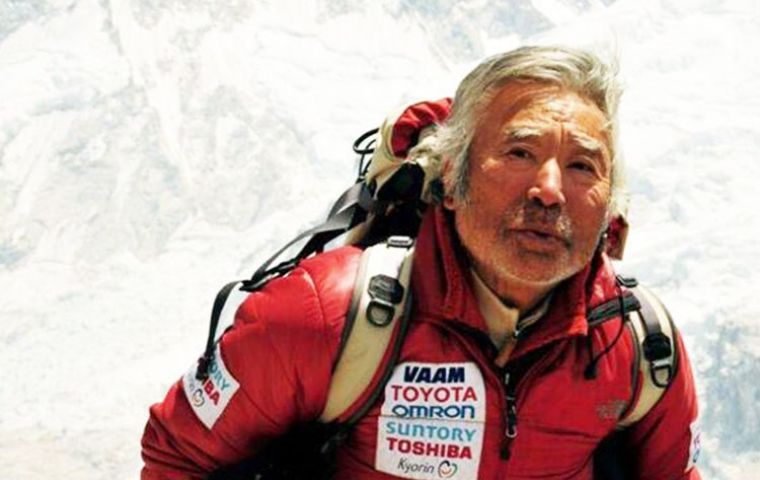 """The magnificent scenery [of the Aconcagua] is one attraction,"" Miura said."