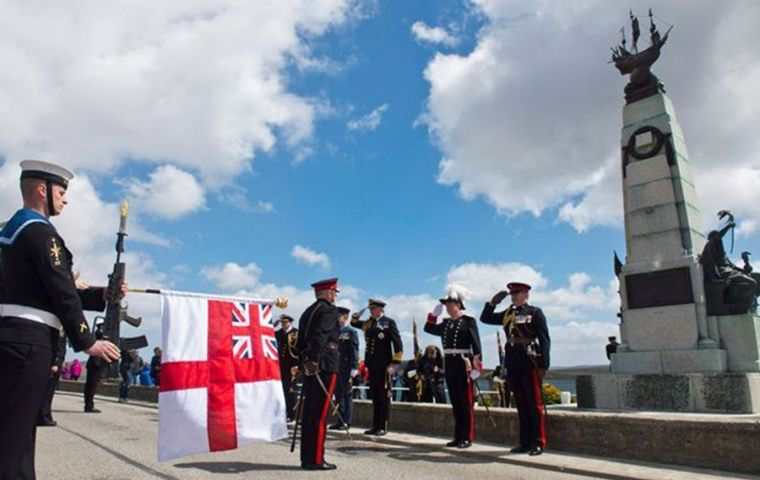 The Battle of the Falkland Islands memorial in Stanley