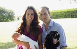 Lupo has starred in the palace's first official pictures of William and Kate with a baby Prince George, snapped by Michael Middleton.