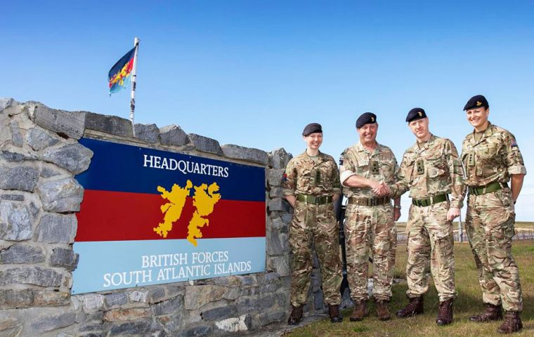 Last weekend BFSAI said farewell to outgoing CBFSAI Brigadier Bennett CBE and welcomed Brigadier Sawyer as the new CBFSAI.(Pic BFSAI)