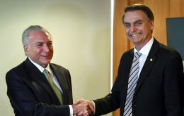 Temer said he expects Bolsonaro's incoming government to follow its fiscal austerity policies and maintain a spending ceiling