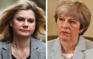 "Justine Greening said the deal negotiated by Mrs. May was the equivalent of asking someone to ""jump out of a plane without knowing if your parachute is there"""