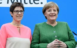 Ms Kramp-Karrenbauer has sometimes been dubbed mini-Merkel or Merkel 2.0, neither nickname she particularly enjoys.