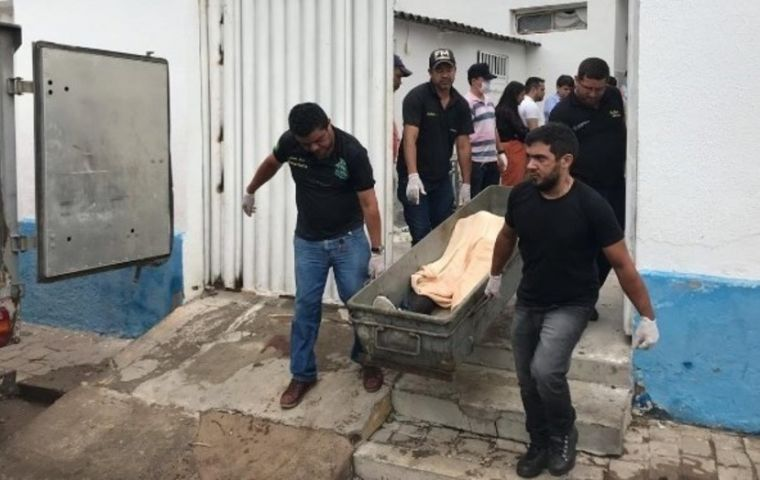 Six hostages, among them 2 children, died in the shooting, when police opened fire on the robbers at bank branches on the main street in Milagres in Ceará state