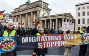 The migration pact addresses issues such as how to protect people who migrate, integrate them into new countries or return them to their home countries.