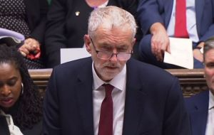 "Labour leader Jeremy Corbyn said the prime minister had ""lost control of events"" and the government was in ""complete chaos"" - and urged her to stand down."