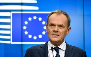 "European Council President Donald Tusk insisted the EU would ""not renegotiate"" but said leaders would discuss how to help ""facilitate UK ratification""."