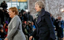 Mrs May has spent Tuesday meeting EU leaders and officials in The Hague, Berlin and Brussels, in efforts to salvage her Brexit deal