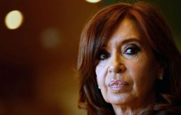 """I'm convinced we deserve a better Argentina, a better country. And among all of us, I'm sure we can again build"", said the former president in her brief message"